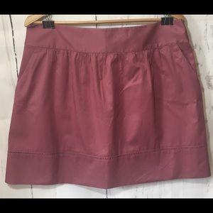 ANN TAYLOR LOFT l Pink flare skirt pockets size 12